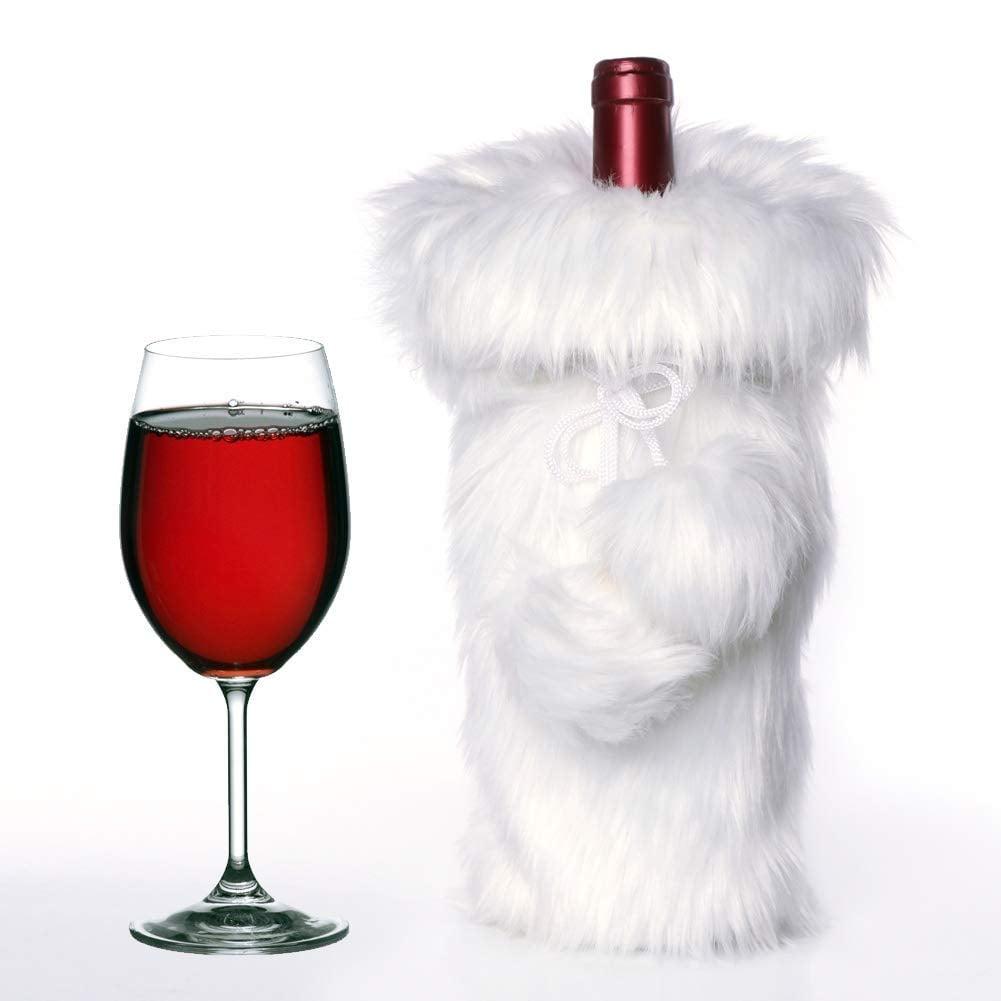 Faux Fur Wine Bottle Cover