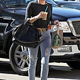 Miley Cyrus picked up coffee from Starbucks.
