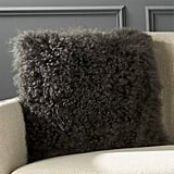 CB2 Mongolian Carbon Sheepskin Pillow