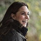 Kate Middleton Wearing Black Turtleneck Sweater