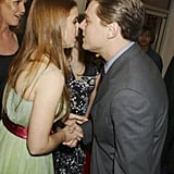 Meeting Leonardo DiCaprio at the premiere of The Aviator in 2004.