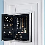Door Solutions Over-the-Door Mirror Jewelry Organizer