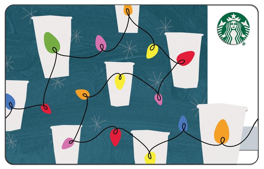 Starbucks string lights gift card starbucks holiday gift guide starbucks string lights gift card negle Images