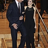 The King and Queen of Spain were glowing at a concert in October.