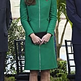 During Her Tour Down Under, the Duchess Looked Radiant in a Tailored Green Erdem Coat
