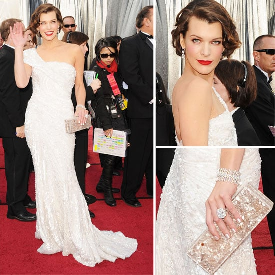 Milla Jovovich in Elie Saab White One Shouldered Gown at the 2012 Oscars: Love it or Leave It?