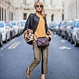 Play Up Furry Leopard Sleeves With a Pair of Matching Pumps