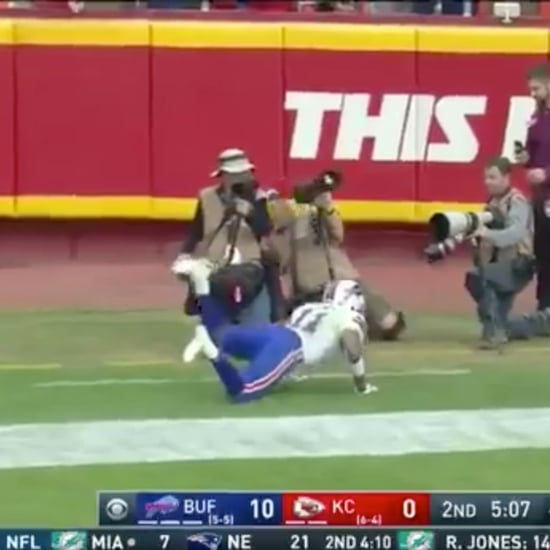 Zay Jones Floating to His Feet During Game
