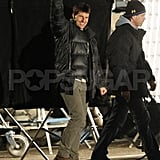 Tom Cruise said hi to his well-wishers.