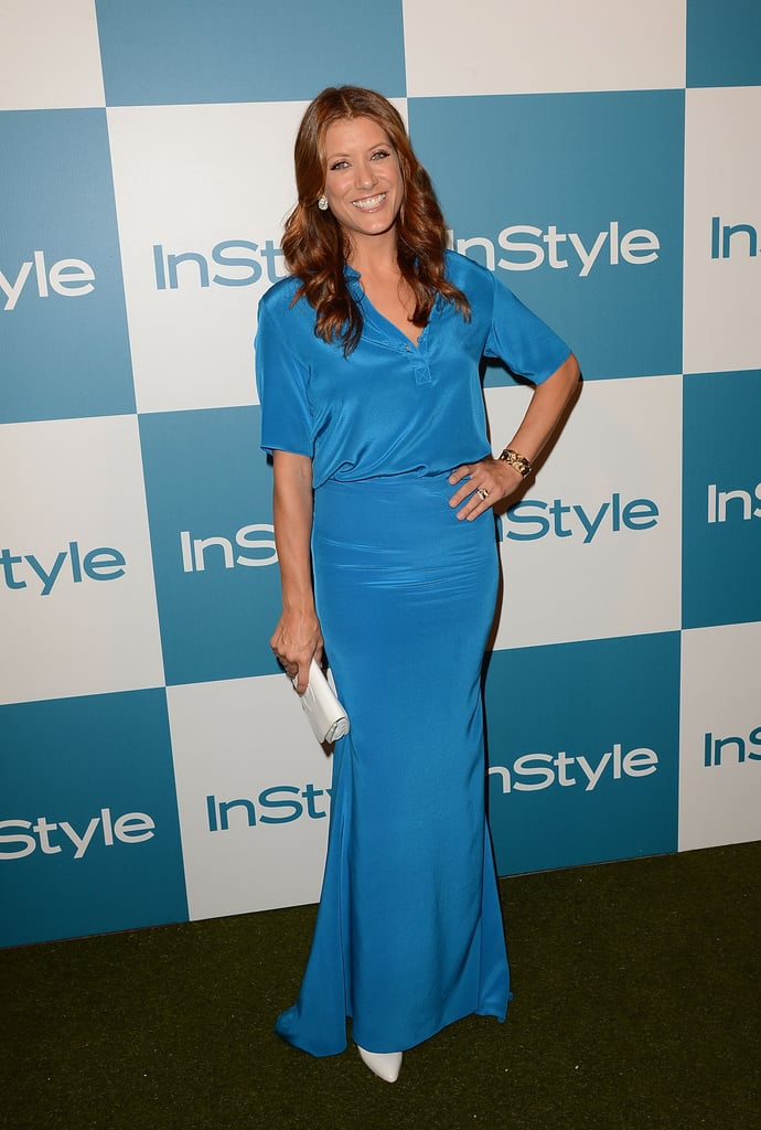 Kate Walsh wore a blue floor-length dress to attend InStyle's Summer party in LA.