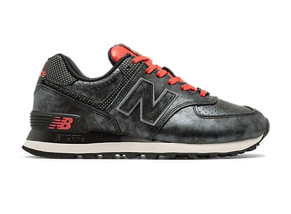 New Balance 574 Disney in red and white