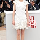 Marion Cotillard wore a white frock.