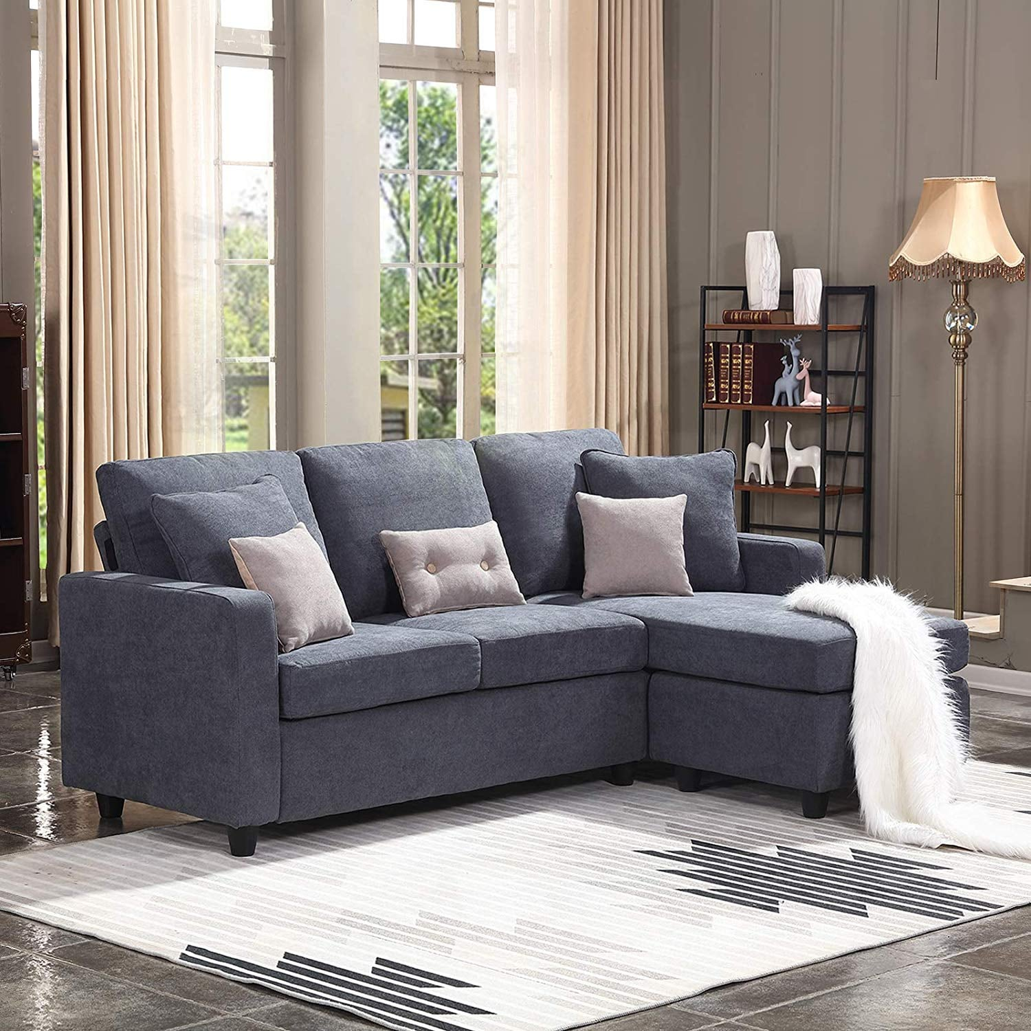 Honbay Convertible Sectional Sofa | 14 Small Sofas Perfect ...