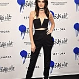 Kendall Jenner Crop Top and Pants at Estee Edit Launch