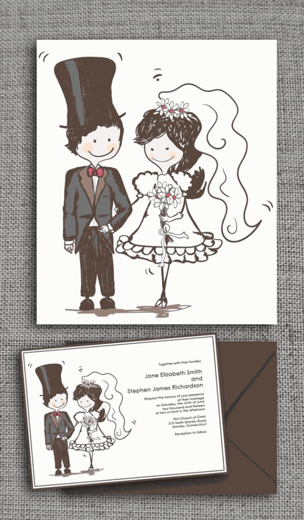 caricature wedding invitation 72 beautiful wedding With caricature wedding invitations online free
