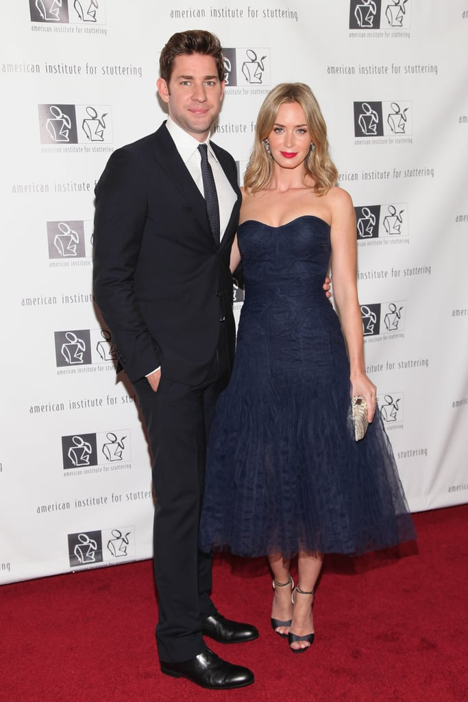 Emily Blunt and John Krasinski at the Freeing Voices, Changing Lives benefit gala in NYC.