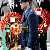 Prince William stepped out for Remembrance Sunday.