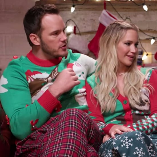 Chris Pratt and Jennifer Lawrence Christmas Sleepover Video