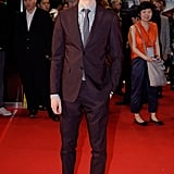 Andrew Garfield suited up for the red carpet event.