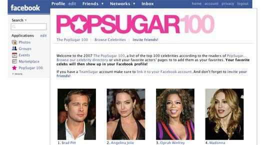 PopSugar on Facebook! OMG!