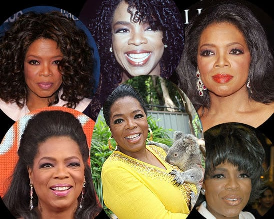 Oprah Beauty Evolution Makeup and Hair Looks Throughout The Years