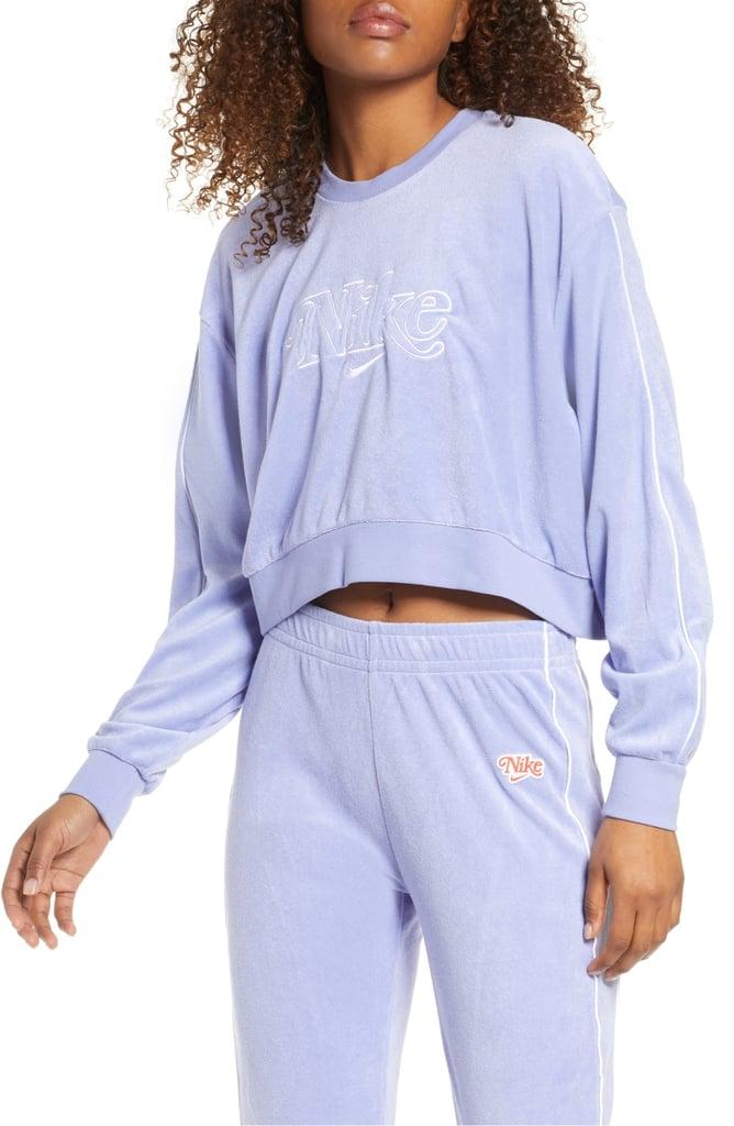 Nike Sportswear Retro Femme Crewneck Crop Sweatshirt