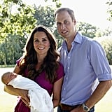 When He Posed For His First Family Portrait After Prince George's Birth