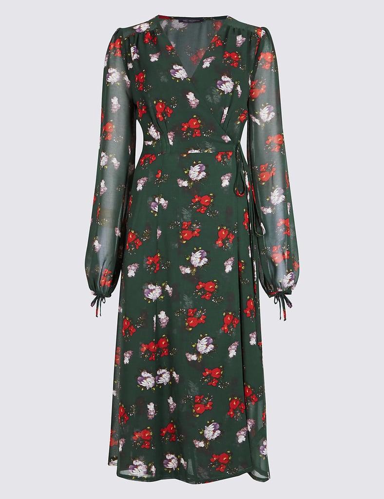 Queen Letizia Floral Zara Dress Popsugar Fashion