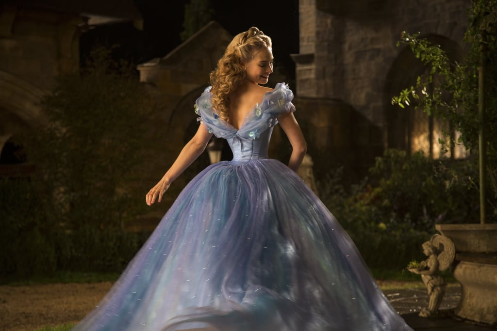 After her dress for the ball is destroyed by her stepmother, Cinderella's fairy godmother makes her an enchanted new gown for the royal ball.