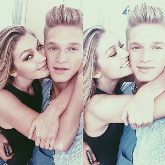 """It model Gigi Hadid and Australian singer Cody Simpson are quite the cute pair. Between their Instagram selfies and a series of picture-perfect red carpet appearances, the young couple has shared plenty of sweet moments over the past couple years. Although Gigi and Cody broke up for a while last May, the 19-year-old model confirmed that she reconnected with the 18-year-old singer in November, saying, """"It's great. He's such a great guy."""" Most recently, the pair stepped out together for the Vanity Fair Oscars after-party, where Gigi wore a sexy Atelier Versace dress with cut-out details. Even Gigi's mum, Real Housewives of Beverly Hills star Yolanda Foster, has called out the couple's cute factor, calling them the """"next generation of love and romance"""" in their family. Take a look at some of Gigi and Cody's best snaps, and then check out Gigi's fitness routine!"""