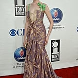 A costume-inspired gown at the 2005 Tony Awards was more quirky than sophisticated.