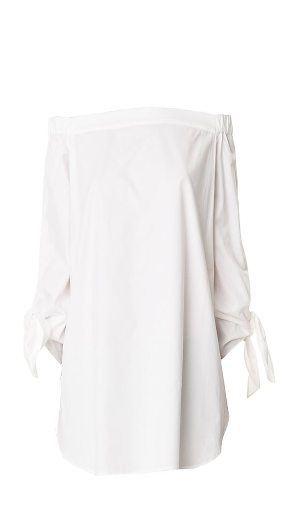 We love the way this simple top adds wow factor with an off-the-shoulder neckline. It's also long enough to make the perfect cover-up at the beach or pool.  Tibi Satin Poplin Off-the-Shoulder Tunic ($295)