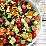 Cucumber, Black Bean, Avocado, Corn, and Tomato Salad