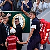 Nicolas Mahut and His Son After His French Open Loss