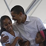 "At an event for fuel efficiency standards, Obama identified the right car for his daughter: ""As some of you may know, it's only a matter of time until Malia gets her learner's permit. So I'm hoping to see one of those models that gets a top speed of 15 miles an hour, the ejector seat anytime boys are in the car."""