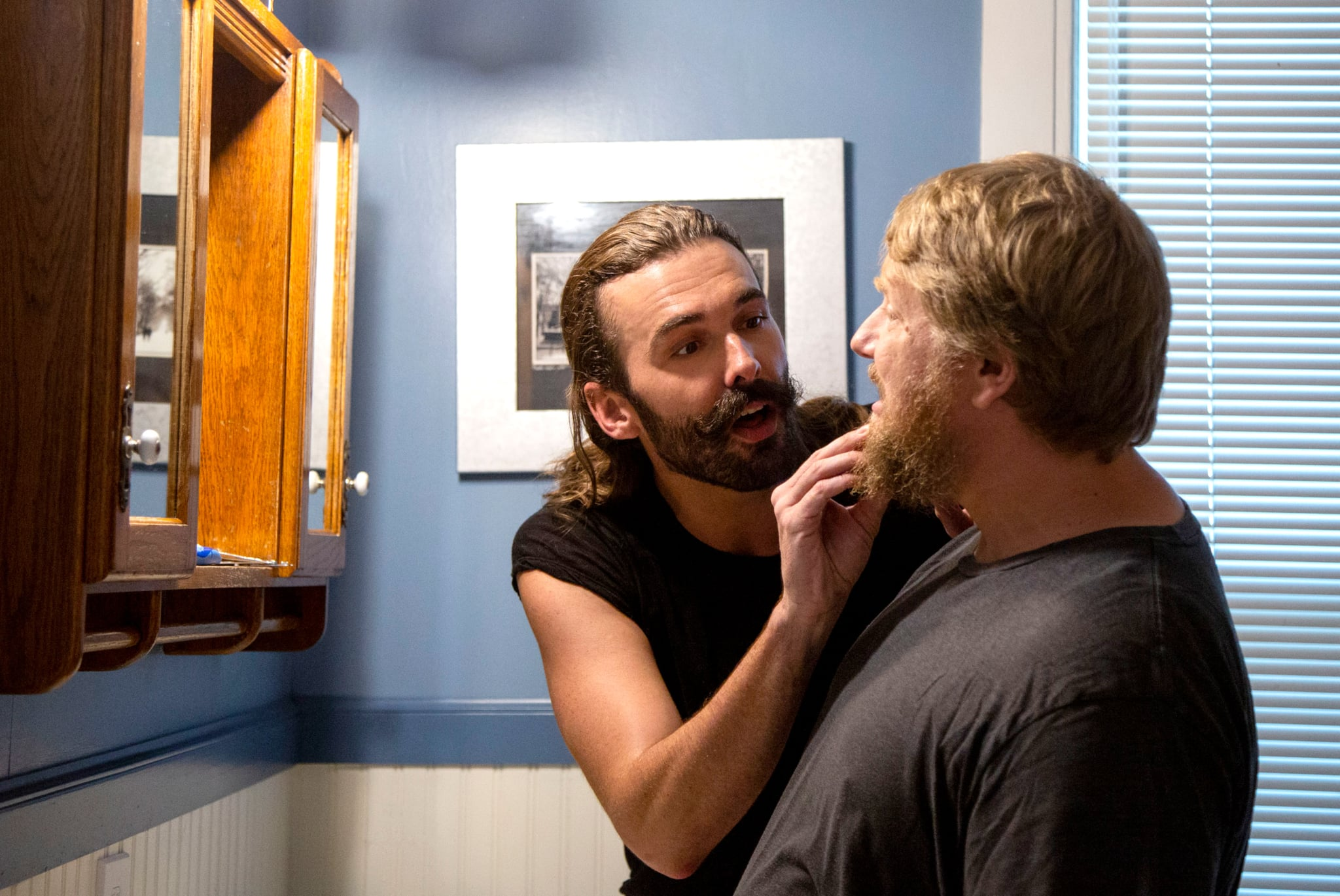 QUEER EYE, from left: Jonathan Van Ness, Rob Elrod, (Season 3, ep. 306, airs March 15, 2019). photo: Christopher Smith / Netflix / Courtesy: Everett Collection