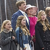 The Dutch royal family at King's Day in Zwolle, The Netherlands.