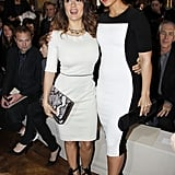 Salma Hayek and Alicia Keys posed at the Stella McCartney Fall 2012 show.