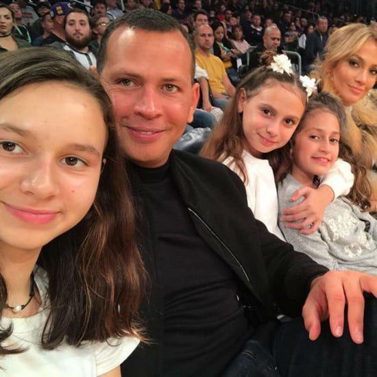 Jennifer Lopez and Alex Rodriguez at Lakers Game Jan. 2018
