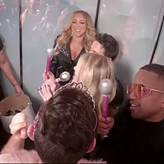 Mariah Carey Singing With Fans in Elevator on TRL Video