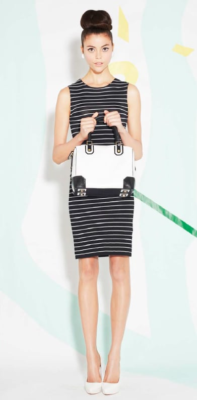 This ensemble proves that you can stick with the black-and-white theme in various ways, all in one look.