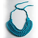 RJ Graziano Beaded Fabric Bib Necklace, $38