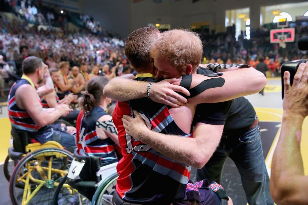 Prince Harry on Giving Hugs