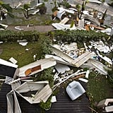 A view of some of the damage caused by Hurricane Irma on Saint-Martin on Sept. 6.