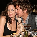 In January 2008, Brad cosied up to Angelina at the Critics' Choice Awards.