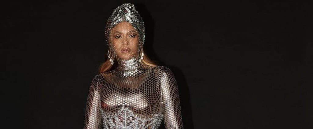 Beyoncé Wears Custom Burberry to 2021 Grammys Afterparty
