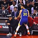 Drake at the 2019 NBA Finals