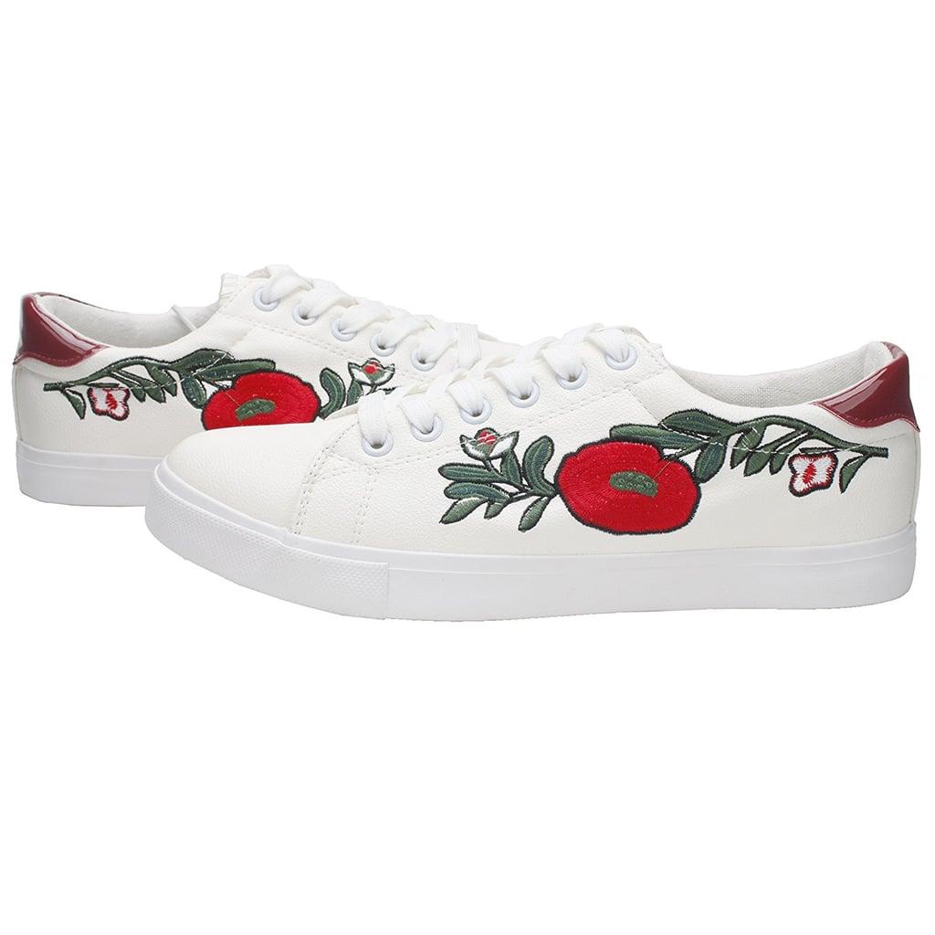 e847747f9e801 Pepstep Embroidered Sneakers | Cute Sneakers on Amazon | POPSUGAR ...