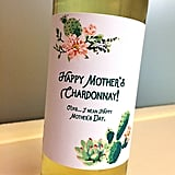 Happy Mother's Chardonnay Wine Label