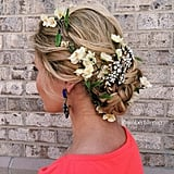 Floral-Adorned Bun